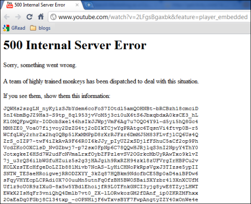 A team of highly trained monkeys has been dispatched to deal with this situation.